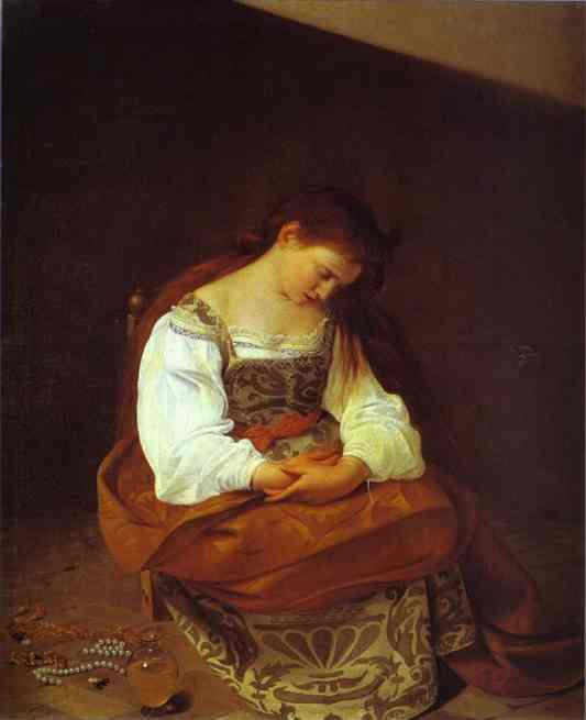 'The Penitent Magdalene', Caravaggio, 1597