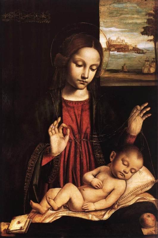The Virgin of the Veil, Ambrogio Borgognone, 1500