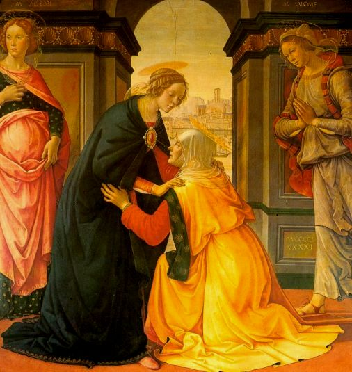 The Visitation of Mary to her cousin Elizabeth, Ghirlandaio