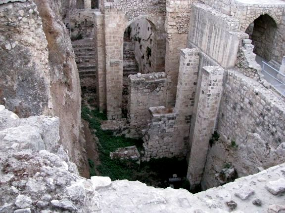 What remains of the ancient Pool of Bethesda in Jerusalem