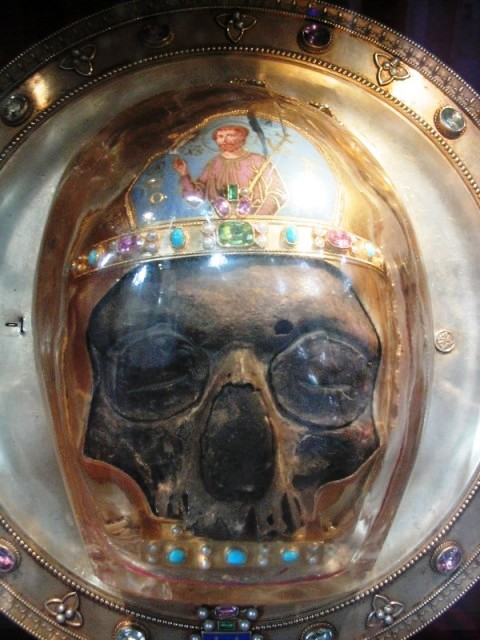 supposed skull of John the Baptist, preserved in the Cathedral at Amiens