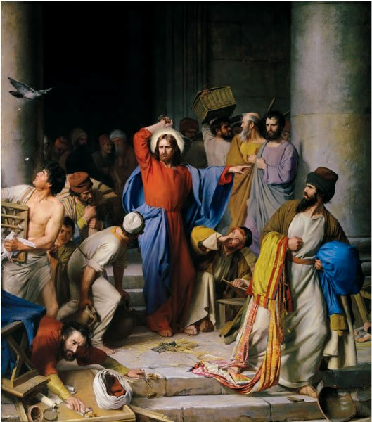 Christ Cleansing the Temple, by Carl Heinrich Bloch, 1875