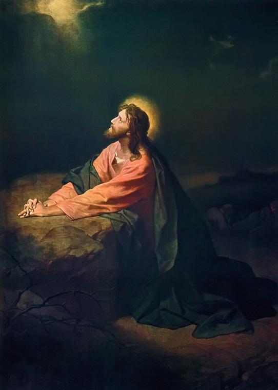 Christ in the Garden of Gethsemane, Heinrich Hofmann, 1890