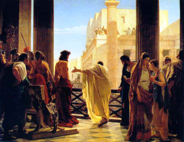FAMOUS PAINTINGS OF THE TRIAL OF JESUS with Bible study questions