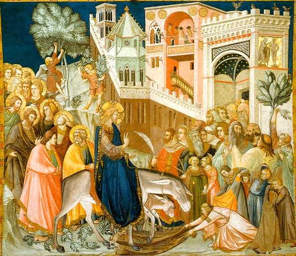 Entry into Jerusalem, the Assisi frescoes