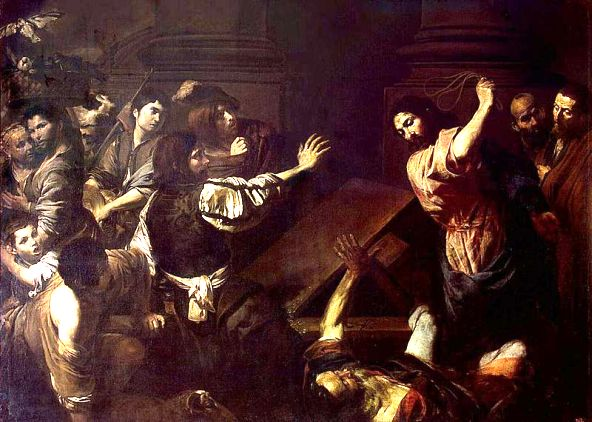 Expulsion of the Money-Changers by Jesus, Valentin de Boulogne