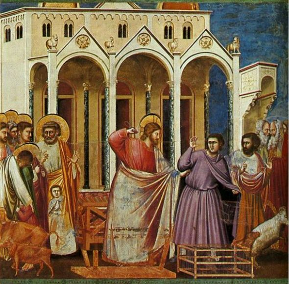 Expulsion of the Money-changers, Giotto di Bondone