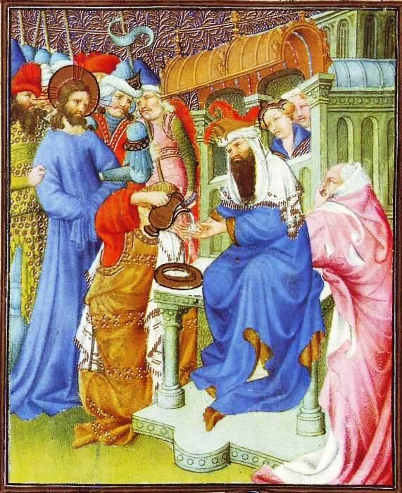 Painting of Jesus and Pontius Pilate