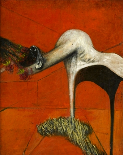Study for a figure at the base of a Crucifixion, Francis Bacon