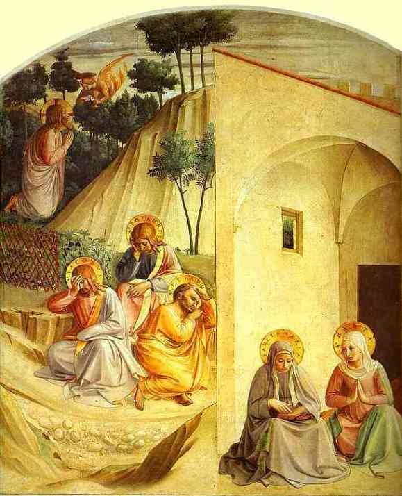 The Agony in the Garden, Fra Angelico, fresco, 1450