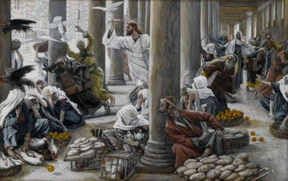 The Merchants chased from the Temple, James Tissot