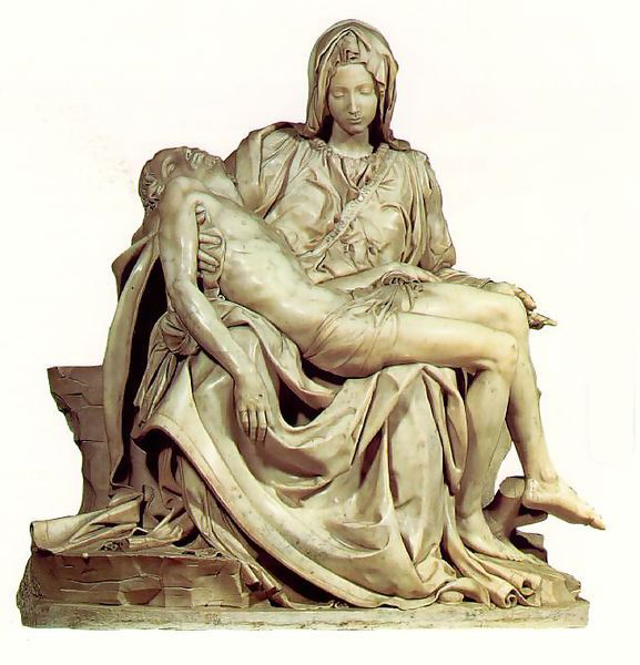 The 'Pieta' by Michelangelo